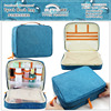 Functional Waterproof Cosmetic & Wash Accessories Tote Organizer Storage Bag With Zipper Closure