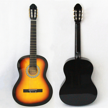OEM Full Size Inch Colorful Guitarra Student Basswood Plywood Best Selling Sunburst Classical Guitar