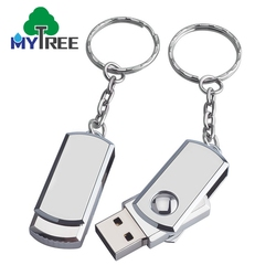 Real Capacity 4GB 32GB 16 32 64 GB Pendrive,360 Degree Rotate Swivel Metal Rectangle 2.0/ 3.0 USB Flash Drives