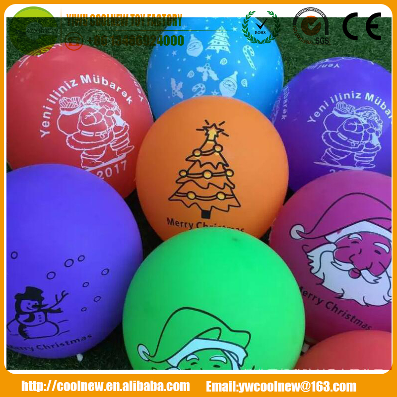 Christmas Round latex free balloon /baloon/ballon/globals christmas gifts 2017