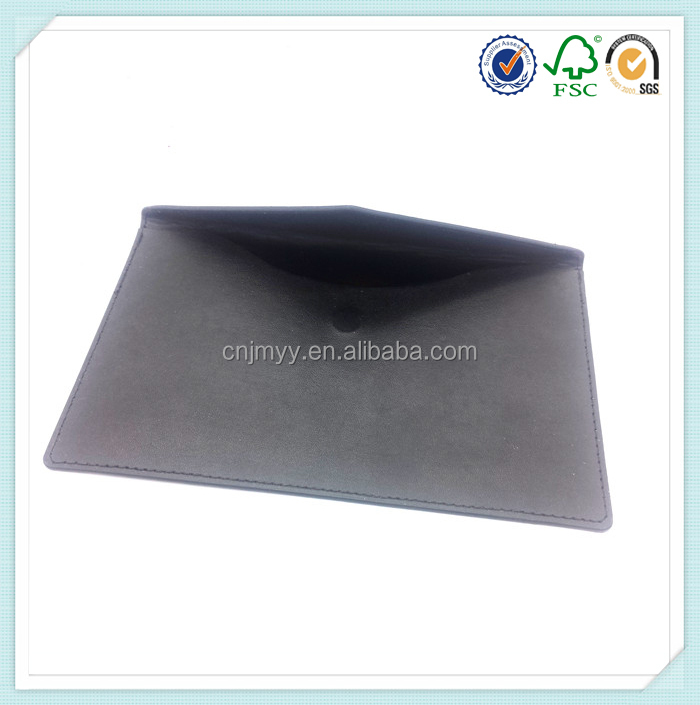 Business envelope type PU leather folder