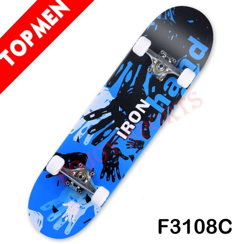 "Complete High Quality Double Kickboard Skateboard made from 31"" x 7.75"" 9-Ply Chinese Maple"