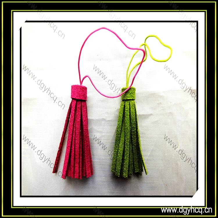 suede leather tassel /leather cord tassel for apparel jewelry