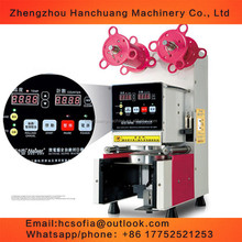 automatic fruit plastic cups sealing machine/jam sealer/jelly sealer
