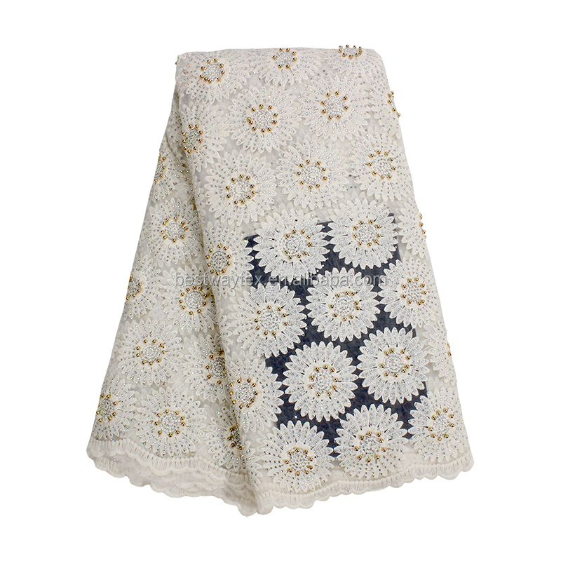 Arts,crafts & Sewing Sporting African Small Flower Embroidery Lace Fabric French Lace Fabric With Chiffon 2018 For Dress Nigerian Lace Fabric S068 Orders Are Welcome. Apparel Sewing & Fabric