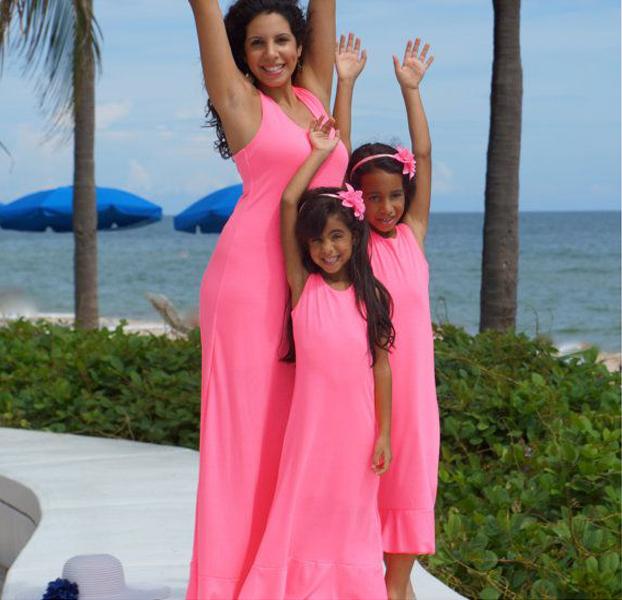 2015 Moda Mujer Ropa Madre E Hija Vestido Diseño - Buy Madre E Hija ...