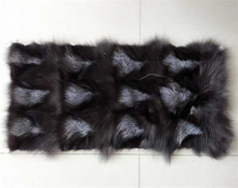 wholesale silver fox fur plate/hot selling real fox fur blanket