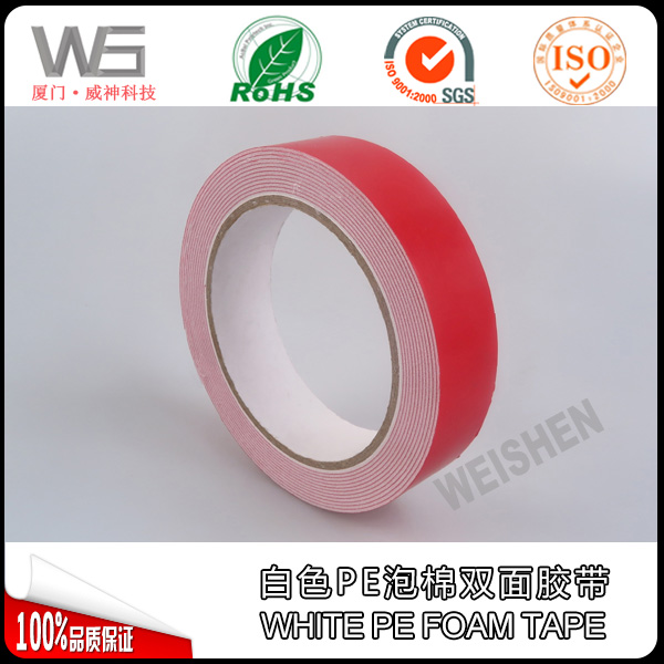 Double sided PE foam tape for exterior and interior automotive decoration