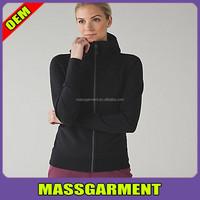 Wholesale long sleeve plain blank crop tops women sports fashionable custom made windproof thumb holes hoodies