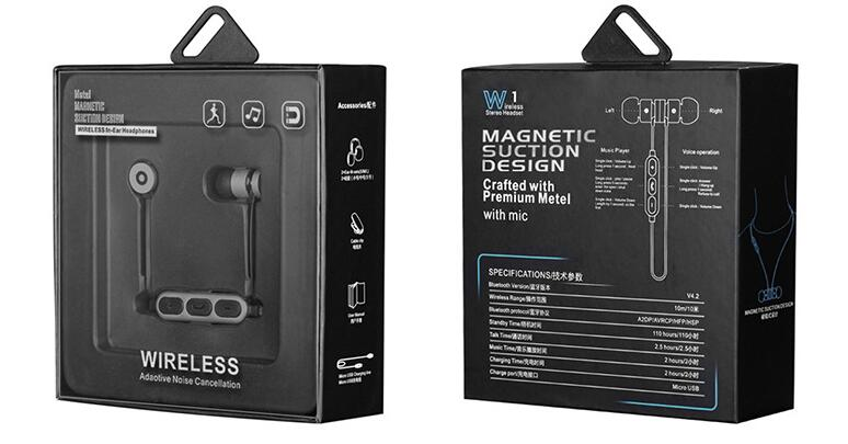 Manget earphone v4.2 virtual reality headset sport earphone