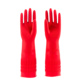 90g Red natural waterproof elongated thick latex household cleaning safety working rubber glove