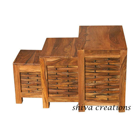 Sheesham Wood Nested Table