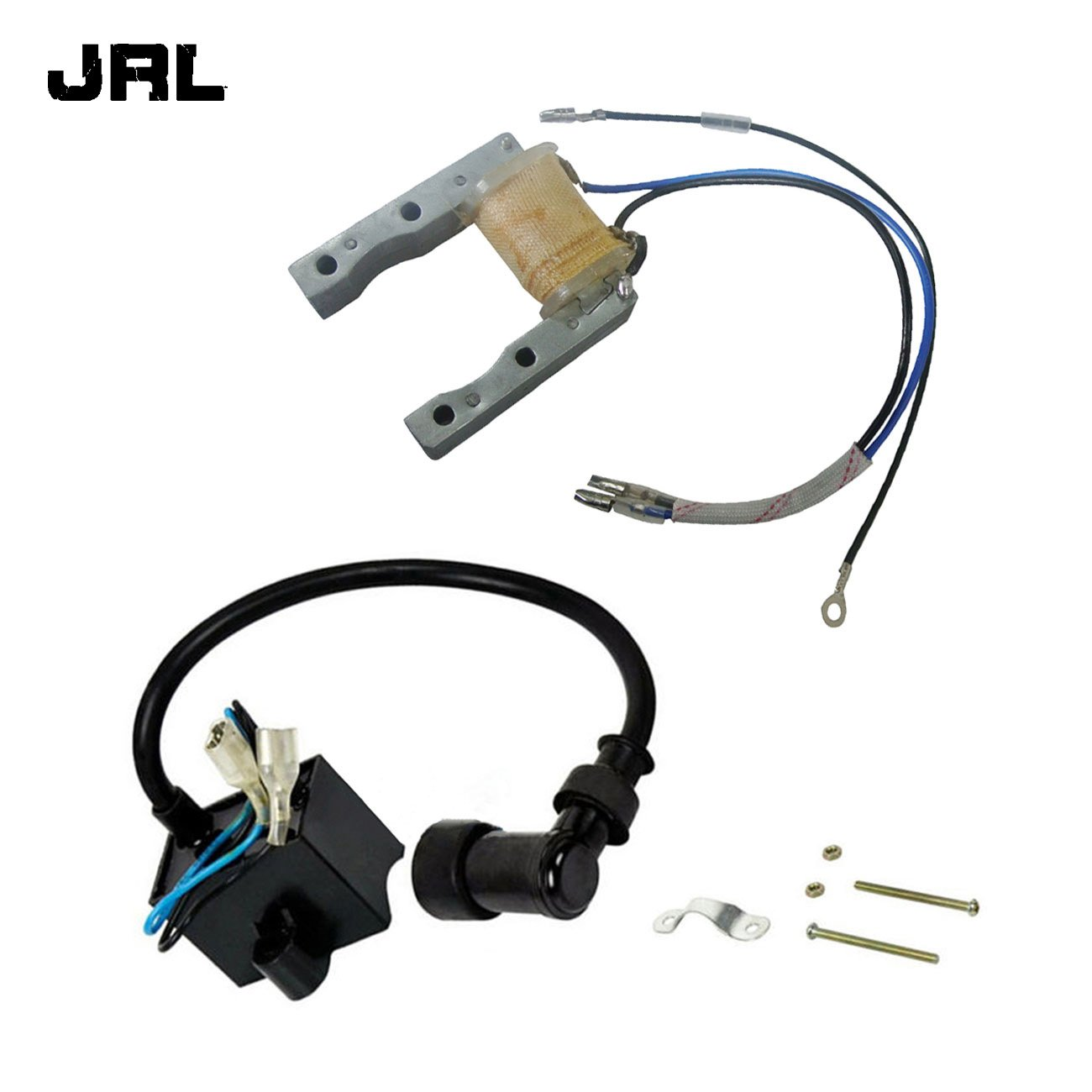 Get Quotations · JRL CDI Ignition Coil&Ignition Magneto Stator For 49/66/80cc  Engine Motorized Bike