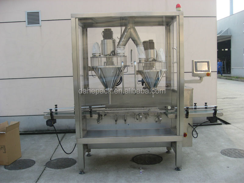Automatic 2-Stage Drink Mixes Tin Cans Filling Machine,Powder Filling Machine