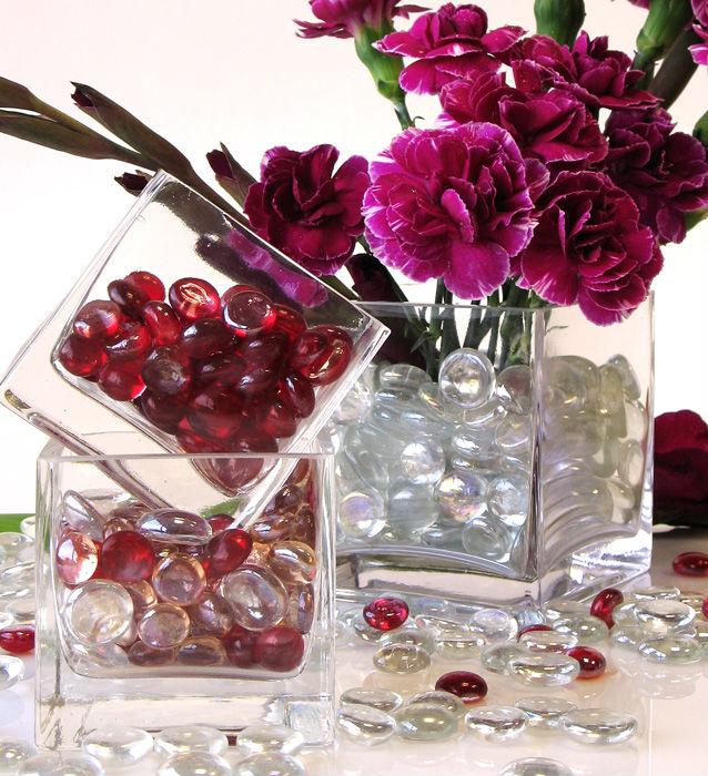Colored Marbles For Vases : Heart shape decorative glass gems for vase filler buy