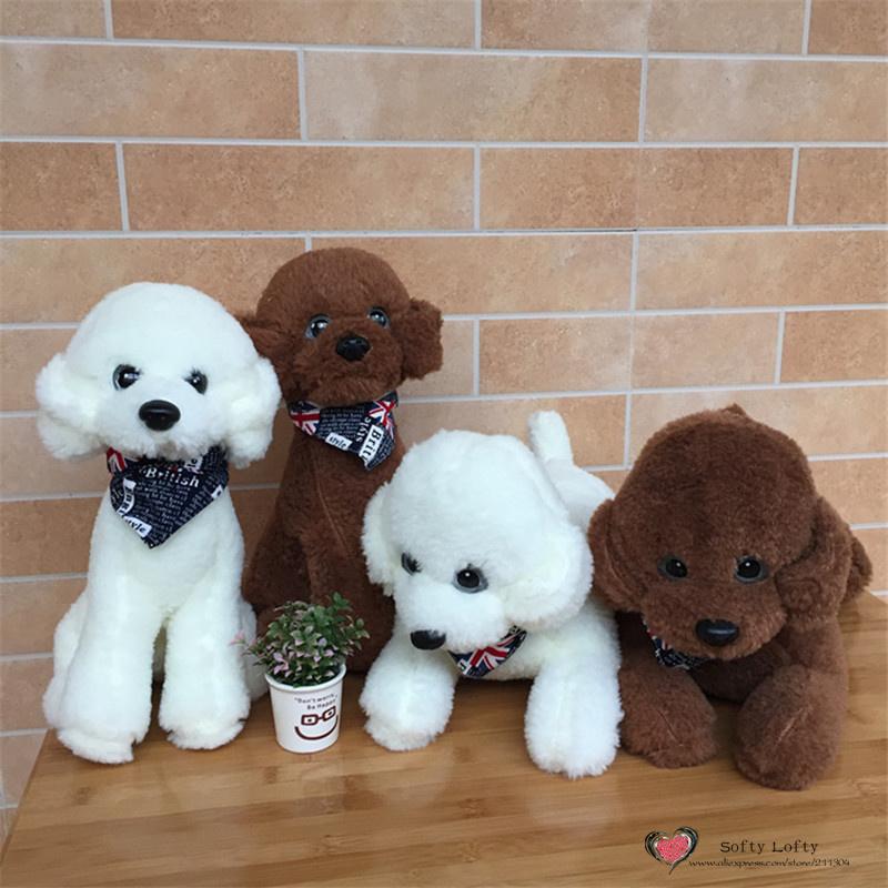 2019 Life Like Teddy Poodle Dogs Bichon Frise Plush Toy Uk