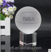 Crystal sport award trophy basketball trophy for souvenir gift