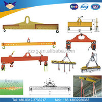 Manual adjustable spreader beam lifting chains beam 20 feet and 40 feet lifting beam