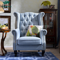Wood frame chesterfield high back lounge chair,lounge furniture,chaise lounge