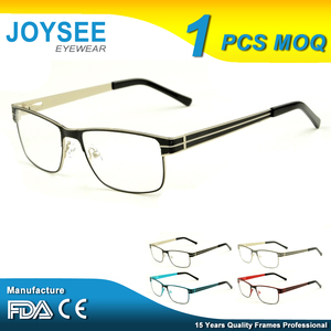 Free Sample 2016 Joysee China Wholesale Brand Designer New Model Specs Metal Optical Eye Glasses Frames For Men And Women