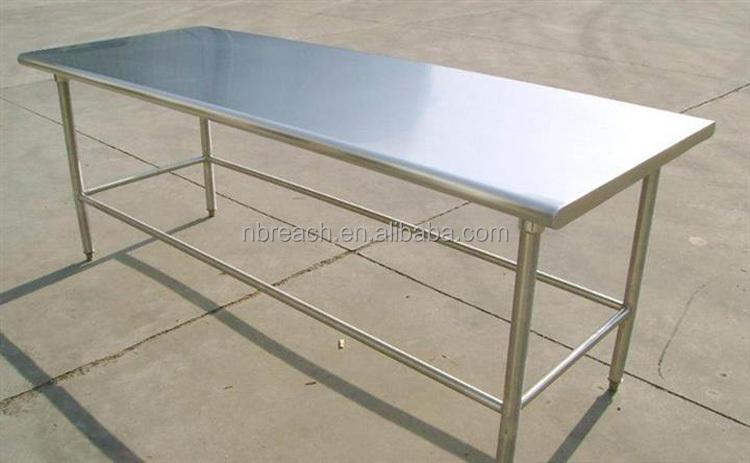 Tavolo Da Lavoro Acciaio : Tavolo da lavoro in acciaio inox con sotto mensola cucina in