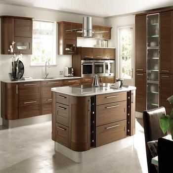 Modern Pvc Furniture Wood Veneer Kitchen Cabinet Modular ...