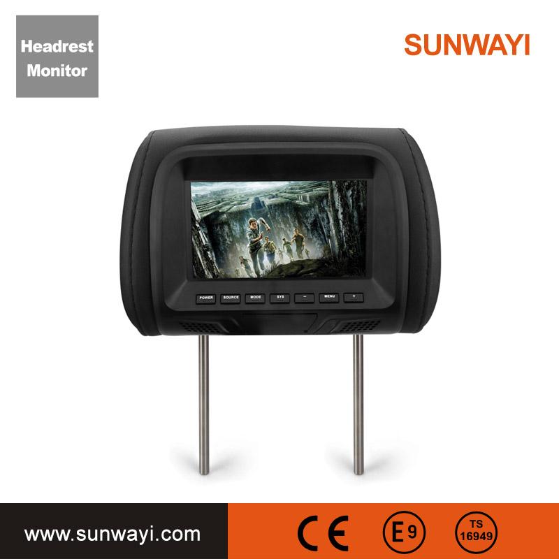 OEM ODM 7 Inch TFT LCD Detachable Car Headrest Dvd Player
