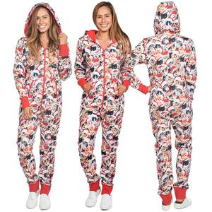 Christmas Jumpsuit Pajamas.Unisex Christmas Onesie Adult Pajamas
