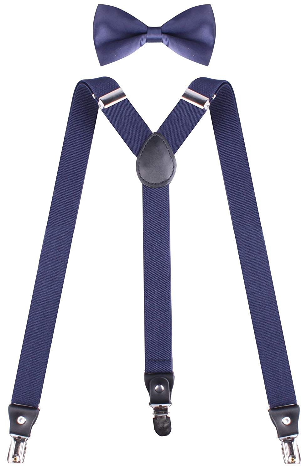 198f8588325 Get Quotations · WDSKY Mens Suspenders Heavy Duty Tuxedo Suspenders and Bow  Tie Pre Tied Set