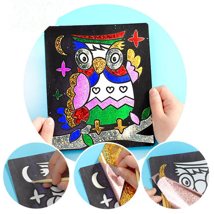 New Children DIY handmade <strong>toys</strong> magic art sticker painting creative painting <strong>toy</strong>