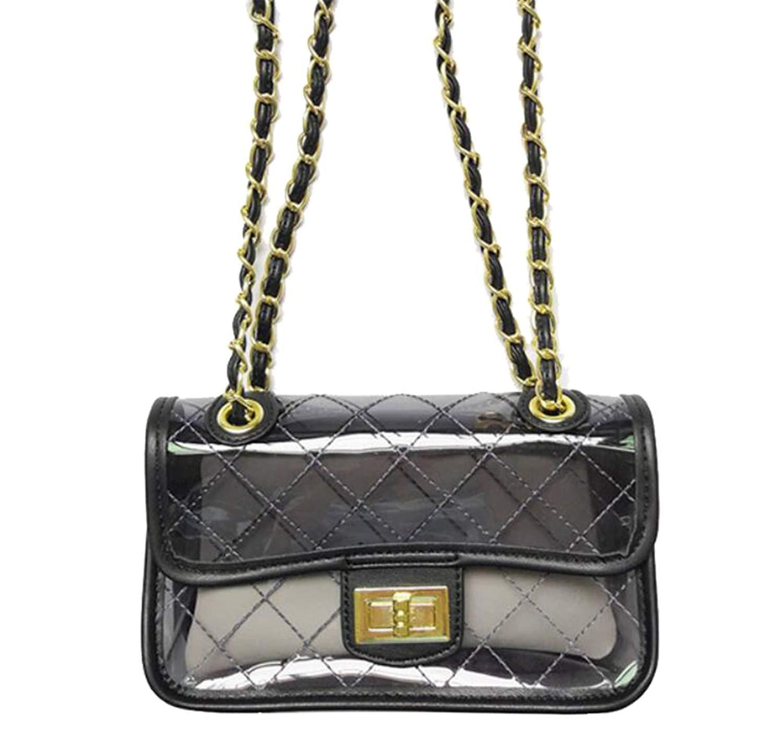 309ce45ba1 Get Quotations · FairyBridal Transparent PVC Beach Bags for Women Crossbody Bags  Purse