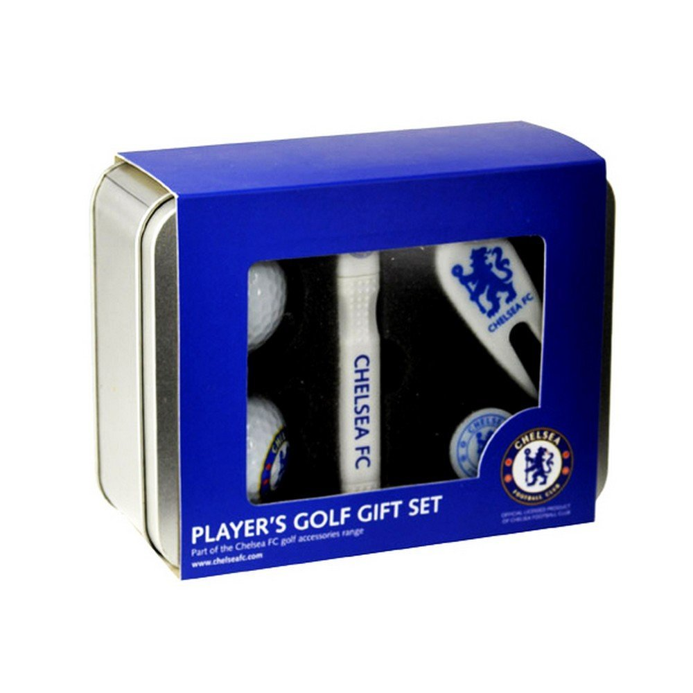 Chelsea FC Official Players Football Crest Golf Gift Set With Presentation Tin