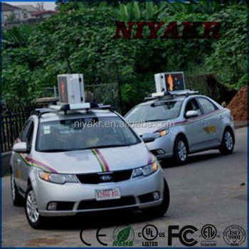 Niyakr Products Car Roof Top Advertising Lighted Signs