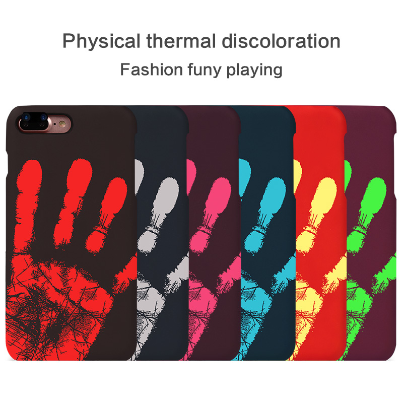 wholesale cell phone case Temperature Sense Hot Change Color Back Cover wholesale cell phone case Thermal Sensor Heat Sensitive