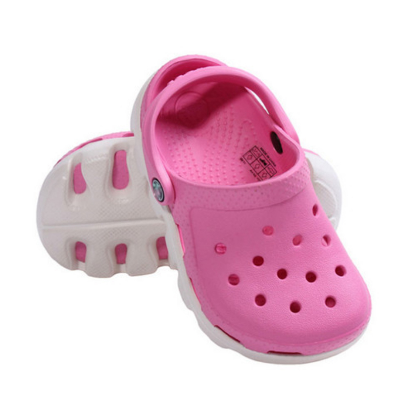 Free shipping new 2015 Summer EVA Fashion Breathable Children Shoes Hole Hole Sandals Boy Girls Slippers Kids Beach Shoe