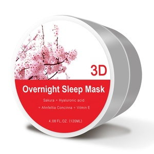 Wholesale Private Label Natural Sakura Extract Whitening Hydrating Sleeping Mask Organic Sleeping Face Mask Cream