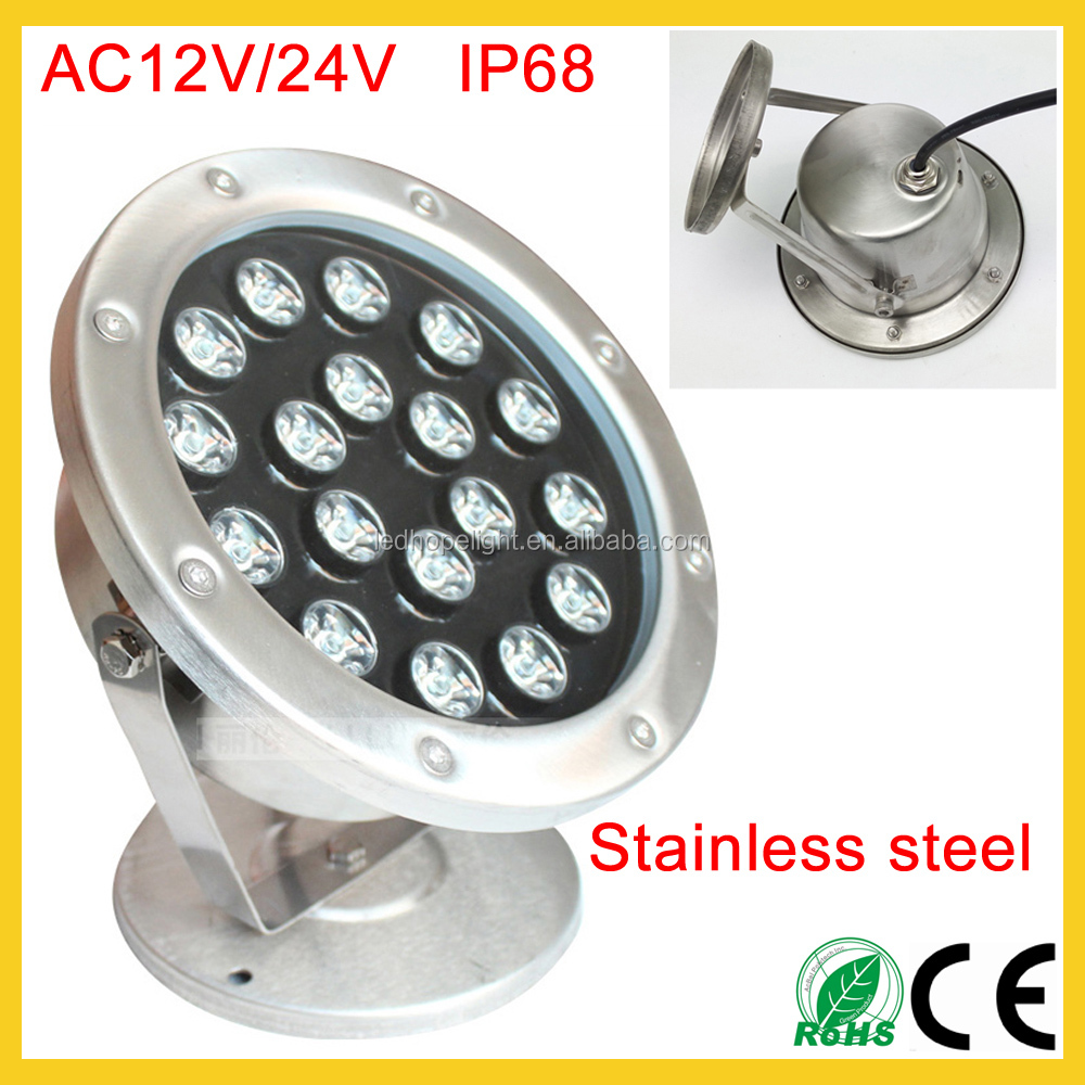 Shenzhen AC 12V 24V waterproof outdoor spotlights IP68 3W 5W 6W 9W 12W 15W 18W 24W in garden pool