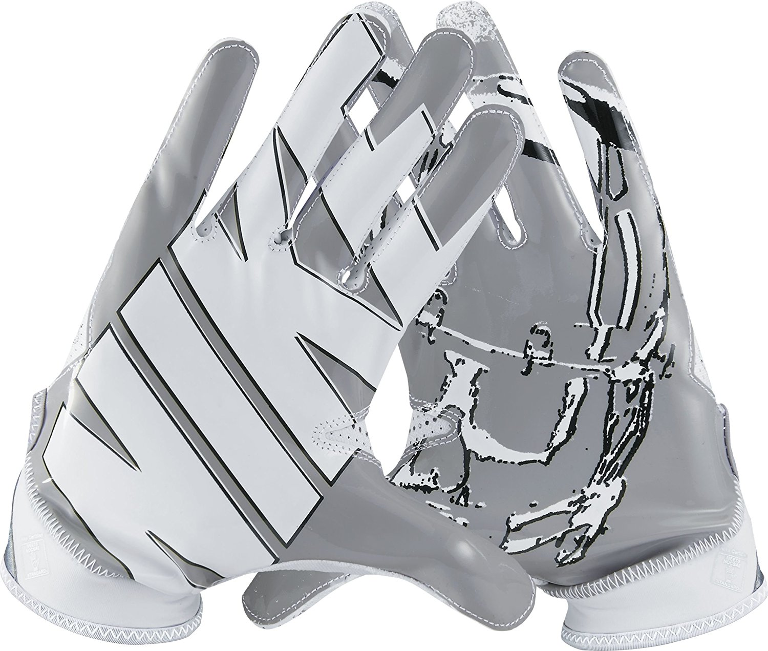 Get Quotations · Men s Nike Superbad 4 American Football Gloves White Wolf  Grey Black GF0494 101 X d7502d9fee8d