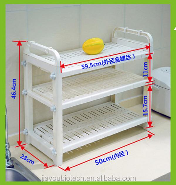 Jyxf 3 Tier Plastic Tire Storage Rack Kitchen Utensil ...
