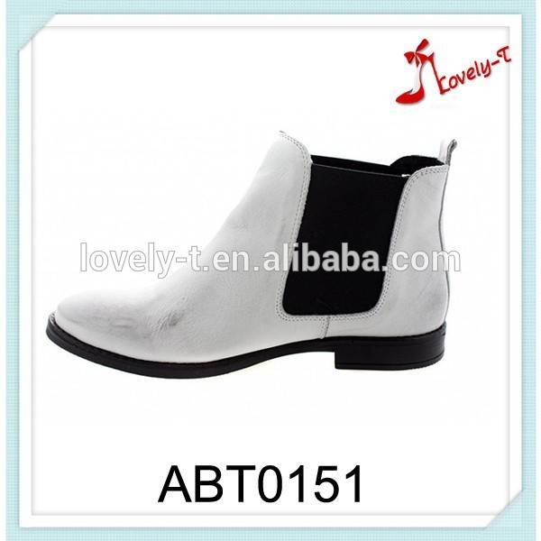 new arrival custom girls ladies suede flat TPR out sole Chelsea pointed toe boots