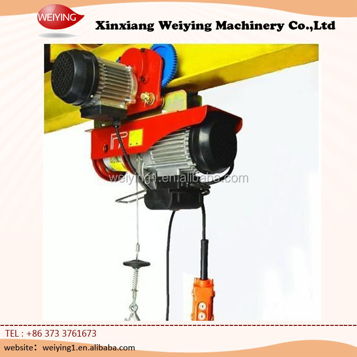 Mini Small Electric Wire Rope Hoist With Trolley - Buy Small ...