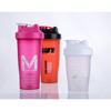 BPA free plastic shaker sports bottle with metal ball protein shakers custom logo water bottle