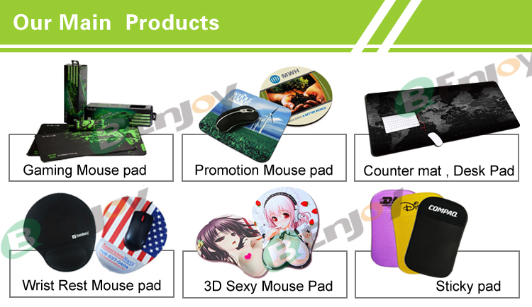 Custom 3d funny boy jelly mouse pad with wrist rest