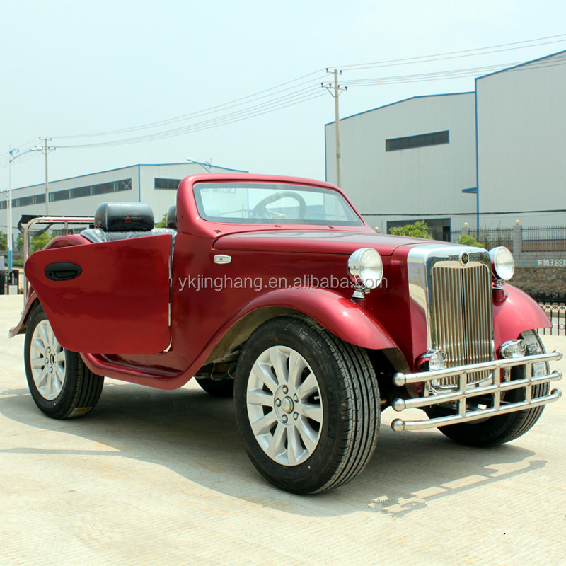 4 seats electric white vintage classic car for sale