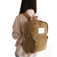 Fashion custom high quality newest canvas bag backpack for students