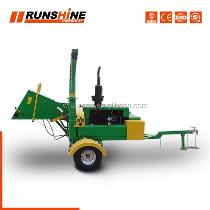 Quick Sample Making Diesel Engine Wood Chipper Machine For Sale