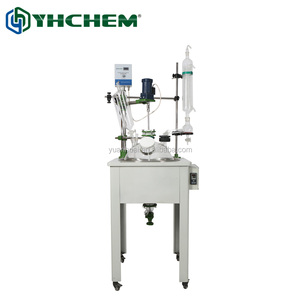 glass chemical reactor with electrical heating bath