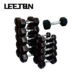 Hot Sale Hex Black Rubber Coated Cast Iron Dumbbell