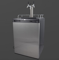 keg master series 4 fridge with triple intertap ss taps