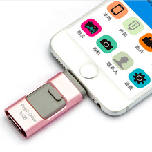 Newest i-Flash iFlash Drive HD U-Disk Micro USB interface 3 in 1 for Android/iPhone 5/6/5s/6Plus iPad iPod/PC/MAC 8/16/32/64GB